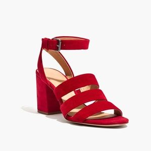 Madewell Maria Sandal in Red Suede